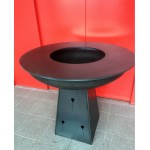 Pedestal Fire Pit with Grill Ring
